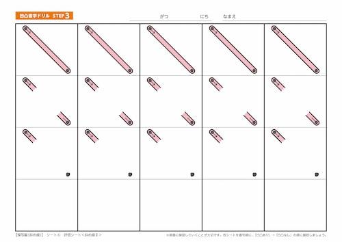 シート6:評価シート<斜め線Ⅱ>